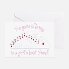 Game Of Bridge Greeting Card