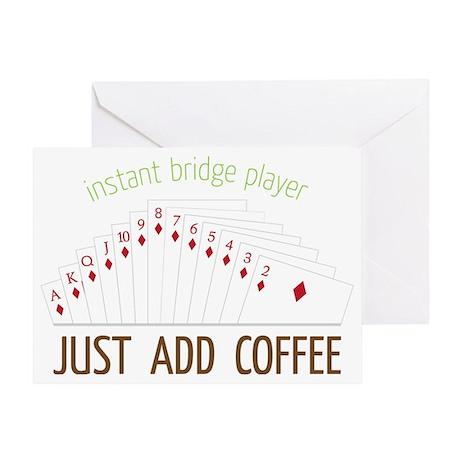 Instant Bridge Player Greeting Card