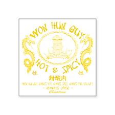 "WUN HUN GUY Square Sticker 3"" x 3"""
