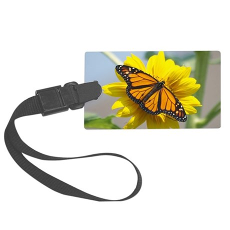 Monarch Butterfly PC Large Luggage Tag