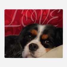 Cavalier King charles Spaniel Love Throw Blanket
