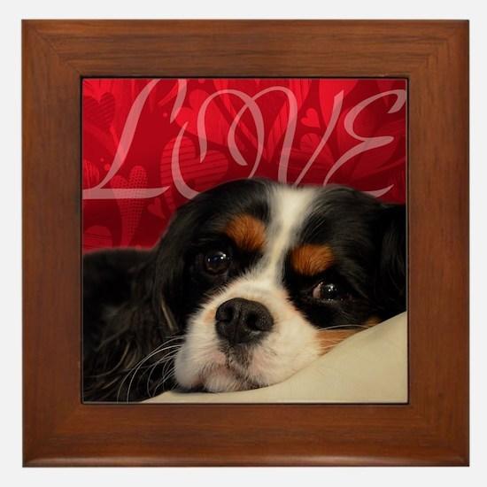 Cavalier King charles Spaniel Love Framed Tile