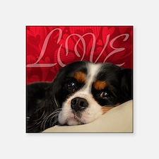 "Cavalier King charles Spani Square Sticker 3"" x 3"""