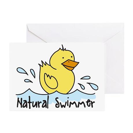 Natural Swimmer Greeting Card