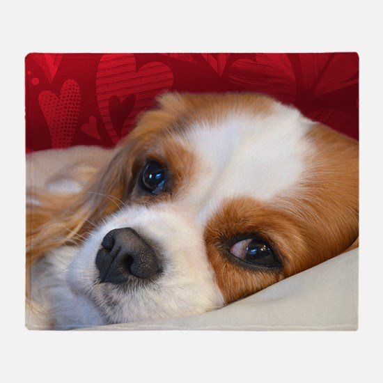 Blenheim Cavalier King Charles Spani Throw Blanket