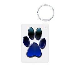 Dog Paw Print Keychains