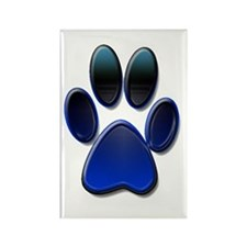 Dog Paw Print Rectangle Magnet