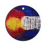 Colorado flag Round Ornaments