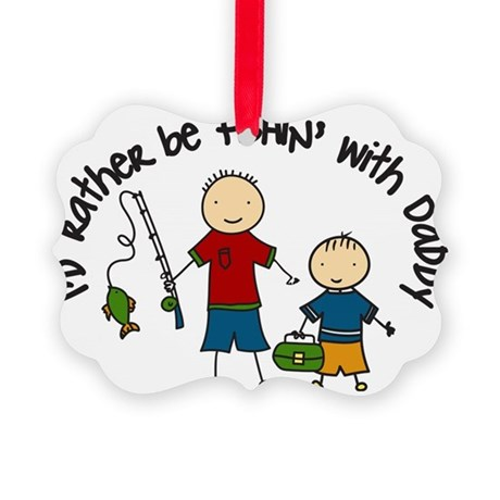 Rather Be Fishing Picture Ornament