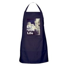 Live Your Life Clouds Apron (dark)