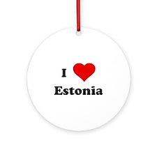 I Love Estonia Ornament (Round)