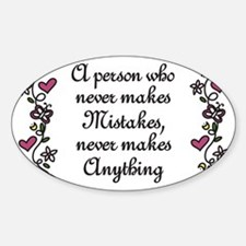 Mistakes Decal