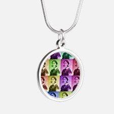 Florence Nightengale blanket Silver Round Necklace