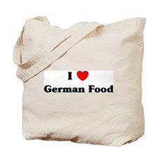 I love German Food Tote Bag
