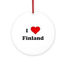 I Love Finland Ornament (Round)