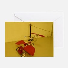 Red Flying Tricycle Greeting Card