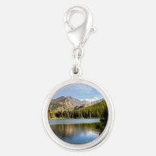 Bear Lake, Rocky Mountain Nati Silver Round Charm