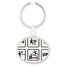 Metal-Detecting-AAZ1 Oval Keychain