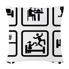 Metal-Detecting-AAZ1 Woven Throw Pillow