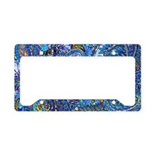 Extra Wild Paisley License Plate Holder