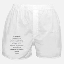 Books with the final letter knocked o Boxer Shorts