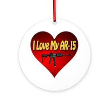 I Love My AR-15 Round Ornament