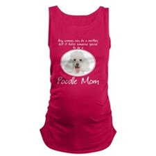Poodle Mom Maternity Tank Top
