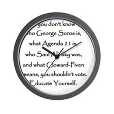 Educate Yourself or Dont Vote Wall Clock