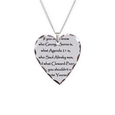 Educate Yourself or Dont Vote Necklace Heart Charm