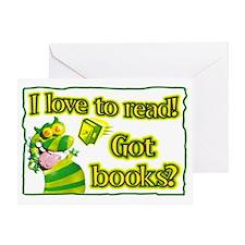Reading Dragon Greeting Card