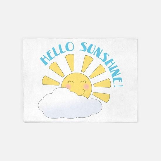 Hello Sunshine 5'x7'Area Rug