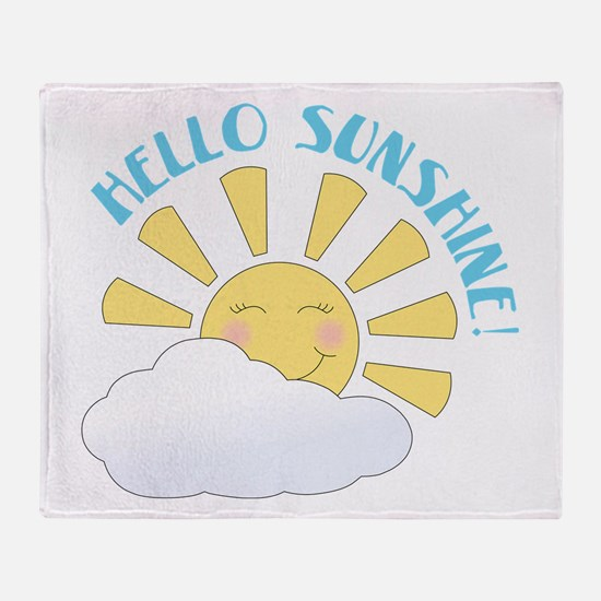 Hello Sunshine Throw Blanket