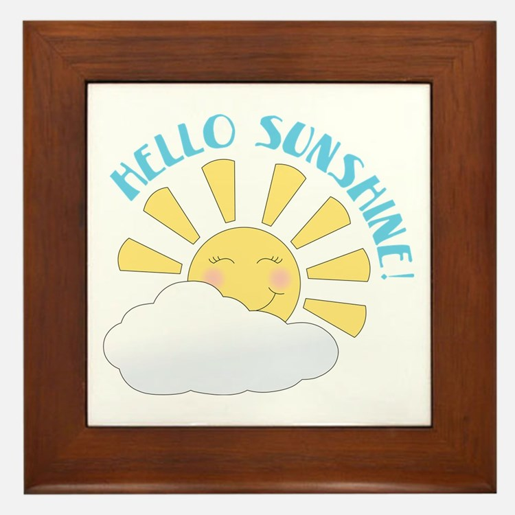Hello Sunshine Framed Tile