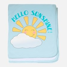 Hello Sunshine baby blanket