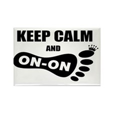 Keep Calm and Carry On On Large Rectangle Magnet