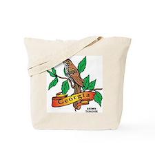 Georgia Brown Thrasher Tote Bag