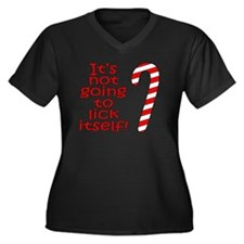Its not goin Women's Plus Size Dark V-Neck T-Shirt