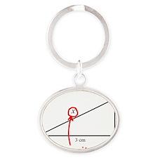 Find x Math Problem Oval Keychain