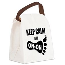 Keep Calm and Carry On CC Canvas Lunch Bag