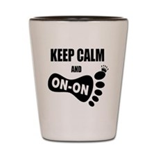 Keep Calm and Carry On CC Shot Glass