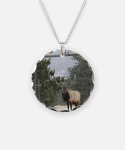 Elk in Estes Park Colorado Necklace