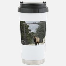 Elk in Estes Park Color Stainless Steel Travel Mug