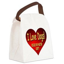 I Love Dogs! Rescue! Spay! Neuter Canvas Lunch Bag