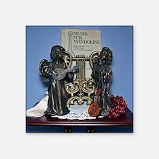 "Bronze Angels with Mandolin Square Sticker 3"" x 3"""