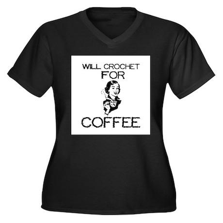 Will Crochet for Coffee Women's Plus Size V-Neck D