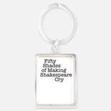 Fifty Shades of Making Shakespea Portrait Keychain