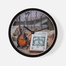 Cozart Mandolin at Crystal Bridges Trai Wall Clock