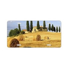 Italian countryside Aluminum License Plate