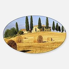 Italian countryside Sticker (Oval)