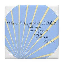 Psalms 118 24 Bible Verse Tile Coaster
